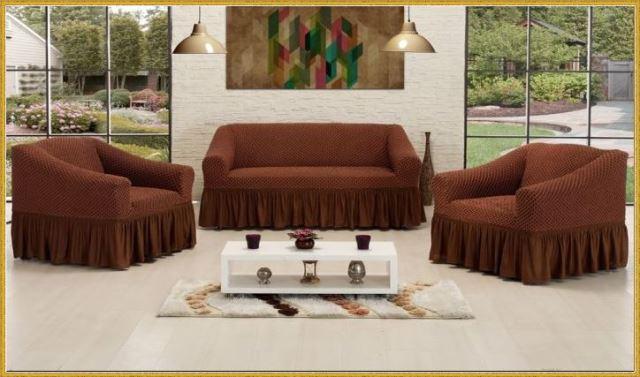 Чехлы на диван и 2 кресла. Премиум