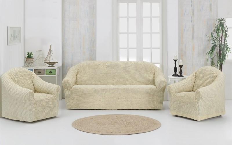 Чехлы на диван и 2 кресла. Без юбки