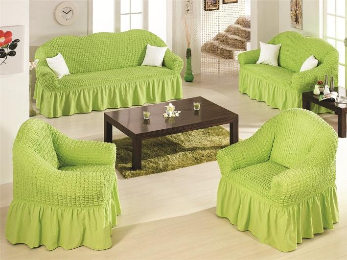 Чехлы на диван и 2 кресла Салатовый