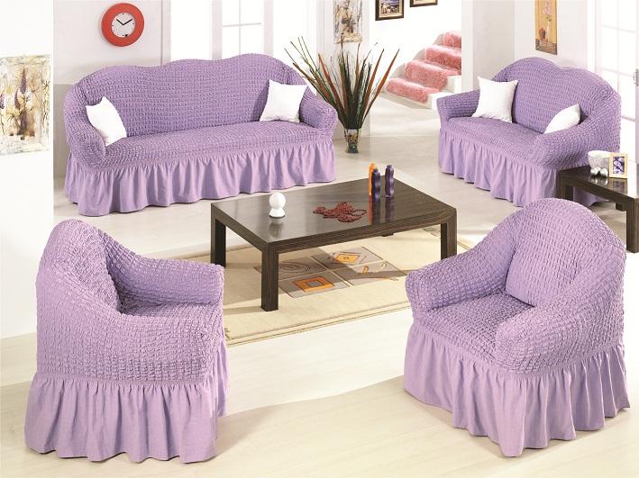 Чехлы на диван и 2 кресла Лиловый