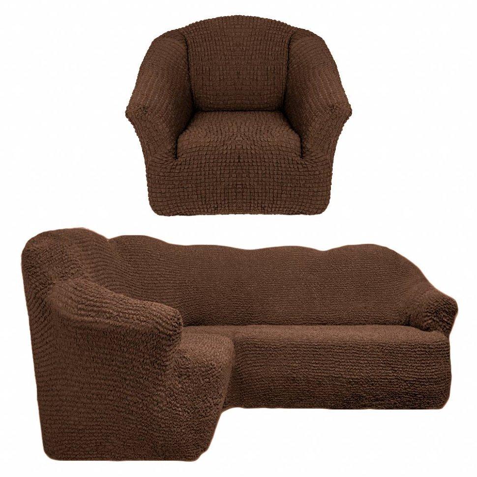 чехол на угловой диван + 1 кресло